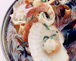 Signature dish CATAPLANA OF SEAFOOD recipe