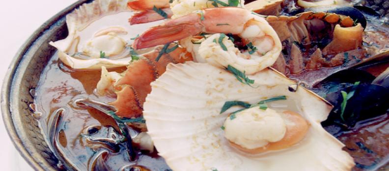 Signature dish CATAPLANA OF SEAFOOD recipe
